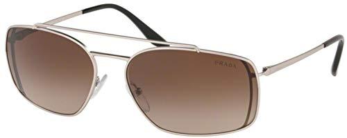 Prada 0PR 64VS Gafas de sol, Matte Silver, 62 para Hombre