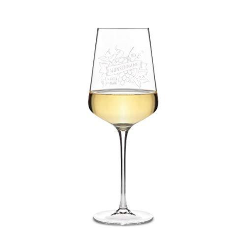 Leonardo Weißweinglas 560 ml Weinglas mit individueller Gravur lustig - Guter Jahrgang