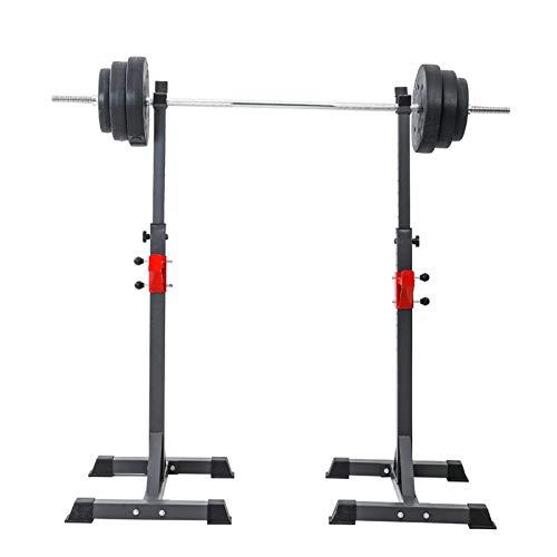 ZYXP Soportes Sentadilla, Barra Pesas Estante Rack Musculación Squat Rack Jaula Musculacion Bastidor Levantamiento Pesas, Carga 200 Kg, Altura Regulable