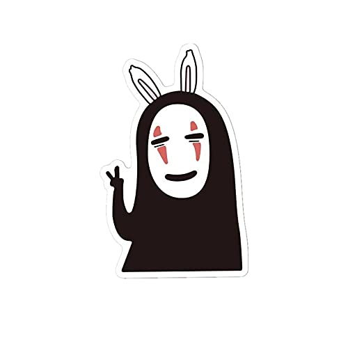 BUCUO Pegatinas de Maleta de Dibujos Animados Bonitos para Hombre sin Rostro, Carrito, patineta para Ordenador, Guitarra, Mosca Muerta, Pegatinas Impermeables, 10 Uds.