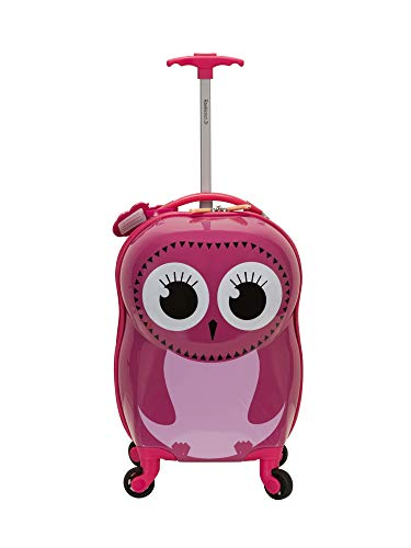 Rockland Jr. Kids' My First Hardside Spinner Luggage, Owl, Carry-On 19-Inch