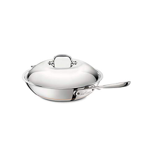 All-Clad 6412 SS Copper Core 5-Ply Bonded Dishwasher Safe Chefs Pan / Cookware, 12-Inch, Silver