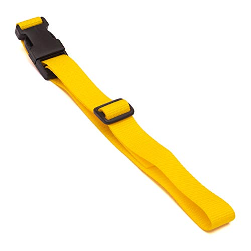 Luggage Strap XL 2.5m x 25mm 2 Pack (Yellow)