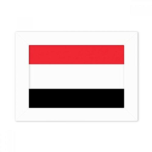 DIYthinker Jemen National Flagge Asien Land Desktop-Foto-Rahmen-Weiß-Bild-Kunst-Malerei Passt 10.2 x 15.2cm (4 x 6 Zoll) Bild Mehrfarbig
