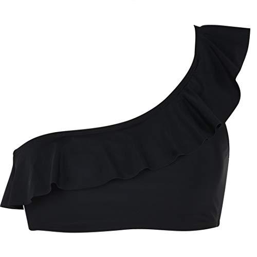 One Shoulder Ruffle Bikini Top