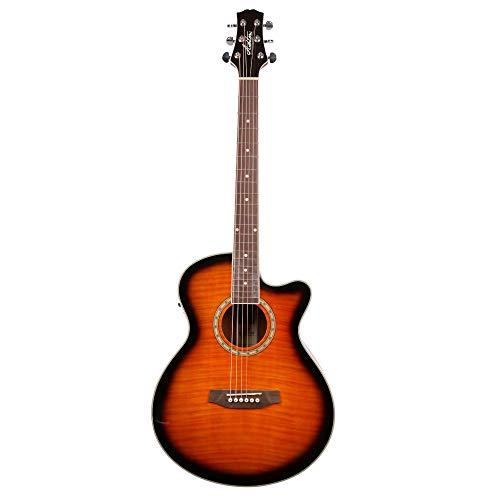 ASHTON SL29/12CEQTSB - Guitarra electroacústica (pastillas combinación, puente fijo, arce, 12 cuerdas), color marrón