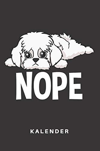 Kalender: Kalender | Notizkalender | Schreibkalender | Jahreskalender | Tageskalender | DIN A5 | Hund | Hunde | Hunderasse | Hundezüchter | Malteser | ... | Nope | Lustig | Comic | Cartoon | Faul