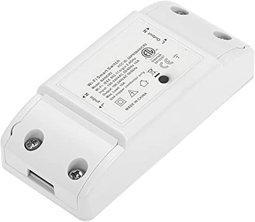 LEOZIE Basic R2 Interruptor inteligente WiFi control Remoto Inalámbrico Módulo Universal Teléfono Control de APP Compatible con iOS y Android, compatible con Alexa, Google Home Assistant