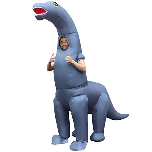 Morph Men's Jurassic Inflatable Costume, Diplodocus Dinosaur Adults, One Size