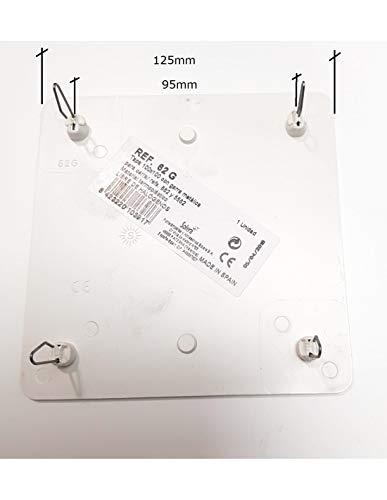 SOLERA Tapa Caja Empalme 100x100mm Garra Metálica