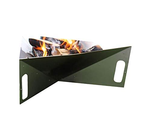 Thorwa® Design Feuerschale Triangle 75cm aus witterungsfestem Edelstahl V2A - Feuerkorb Feuerstelle für Garten/Terrasse