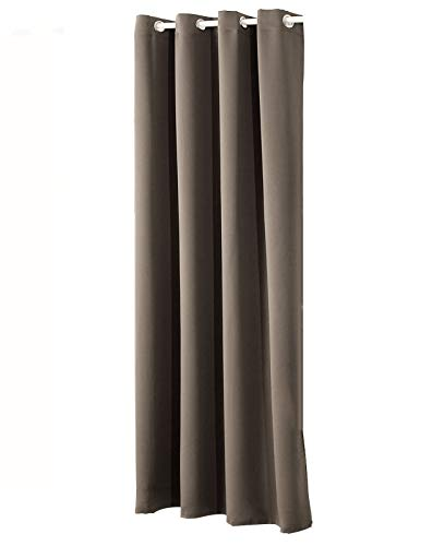 WOLTU #329, Gardinen Vorhang Blickdicht mit Ösen, 250g/m2 Schwerer Verdunkelungsvorhang Thermovorhang lichtdicht für Wohnzimmer Schlafzimmer Tür Winter 135x245 cm, Taupe