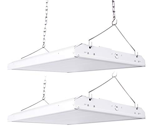 HyperSelect LED High Bay Light Fixture, 220W (700W Equiv.), 2ft Linear, Dimmable, 28600 Lumens, Motion Sensor Compatible, 5000k, Garage, Warehouse, Industrial, Shop Light, UL-Listed - Pack of 2