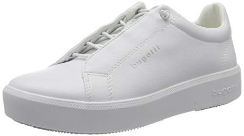 bugatti Damen 4324076A5059 Sneaker, Weiß (White/Silver 2013), 38 EU