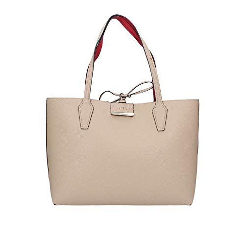 Guess Bobbi Inside Out Tote Tan/Red