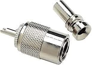 SEACHOICE 19811 Chrome-Plated Male VHF Antenna Connector with RG58U Cable Adapter
