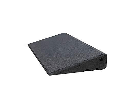 Türschwellenrampe Excellent 500/75 mm hoch aus Gummigranulat hochverdichtet (schwarz)