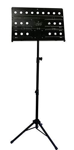 Feibrand Music Sheet Stand Vouwen voor gitaar viool Note boek inklapbare boekenplaathouder met tas Lichtgewicht Draagbaar Zwart