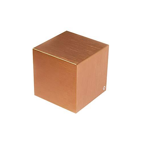 QAZQA Design/Modern Moderne Wandleuchte Kupfer - Cube/Innenbeleuchtung/Wohnzimmerlampe/Schlafzimmer/Küche Aluminium Würfel LED geeignet G9 Max. 1 x 40 Watt