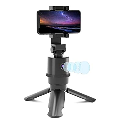 Fast Auto Tracking Tripod, NO APP Required, 355° Rotation Smart Selfie Stick Shooting Holder Camera Mount for iPhone or Android