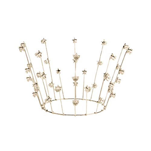 Amosfun Corona Tiara Cake Topper Crystal Wedding Crown Star Cupcake Topper Nupcial...