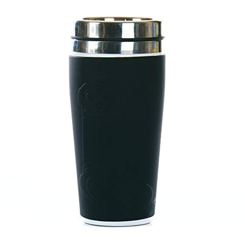 Paladone Playstation Thermo-Kaffeetasse & wiederverwendbare Aufkleber Set