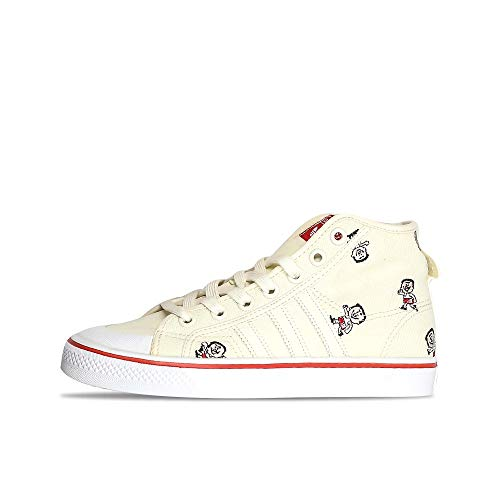 adidas Originals Nizza Hi Trimmy Sneaker Turnschuhe CQ2367 Trimm Star Natur Weiß, Schuhgröße:42 EU, Farbe:Weiß