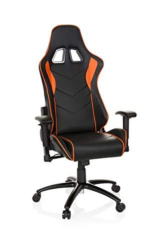 Gaming Stuhl/Bürostuhl Sportsitz Kunstleder SPIELBERG III schwarz/orange hjh OFFICE