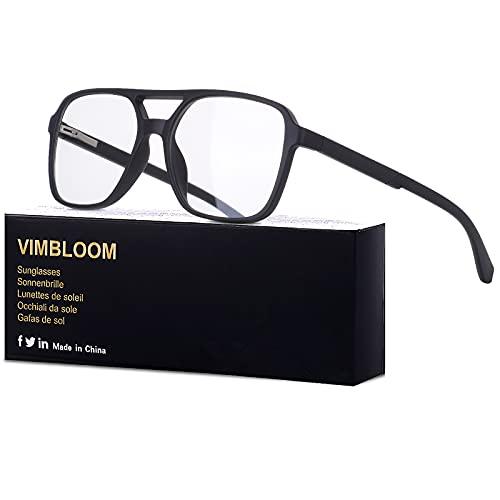 Vimbloom Occhiali Antiriflesso Anti Filtro Anti Eyestrain Luce Blu Per UV Gaming Computer Uomo Donna(2311 Nero Opaco)
