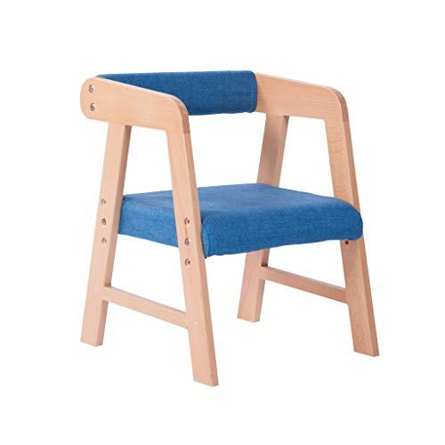 CAO-LIFE - Silla infantil con reposabrazos, lacado natural, muebles para niños de madera de haya maciza, ajuste de altura (color: G)
