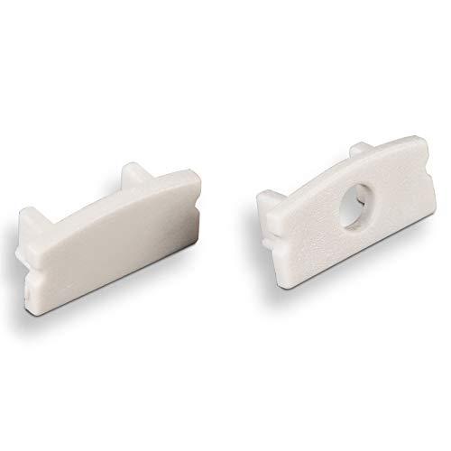 SO-TECH® Juego de tapas terminales para LED perfil-22 (1 x cerrado /...