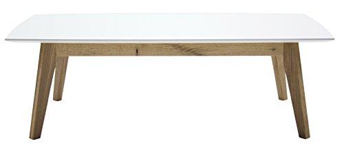Tenzo 2189-001 Bess Designer Couchtisch, 38 x 120 x 60 cm, weiß / eiche