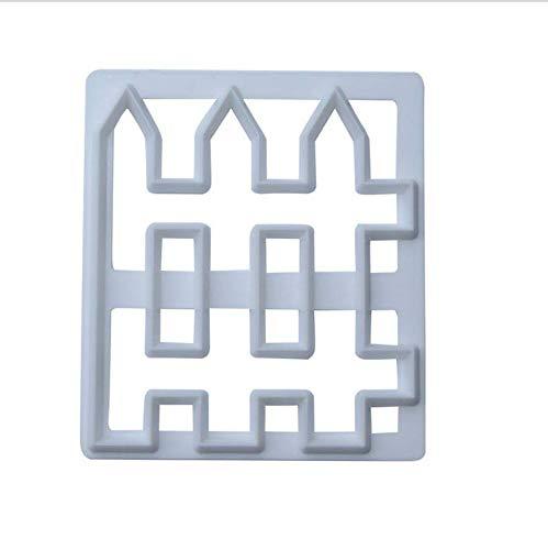 Molde de valla de plástico de calidad alimentaria Fondant molde de valla de pastel DIY molde de herramienta de decoración para hornear