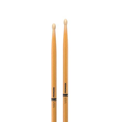ProMark ActiveGrip Classic 5B Drumsticks, Oval Tip, Clear (TX5BW-AGC)