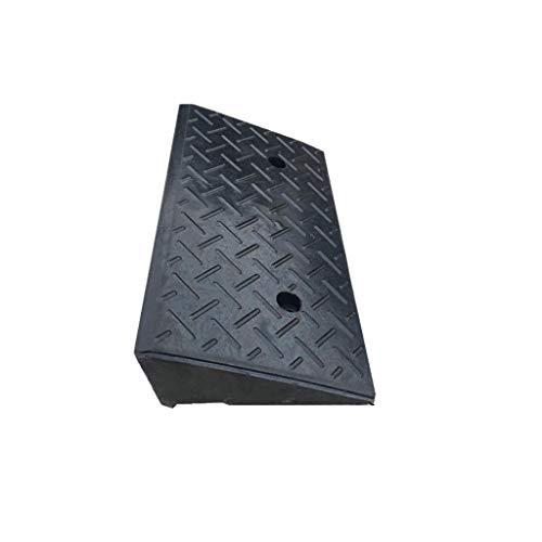 Rollstuhlrampe Fabrik Auffahrrampen, rutschfester Gummi Curb Ramps Auto Bergauf Pad Outdoor-Rollstuhl-Rampen praktisch (Color : Black, Size : 48 * 25 * 12CM)
