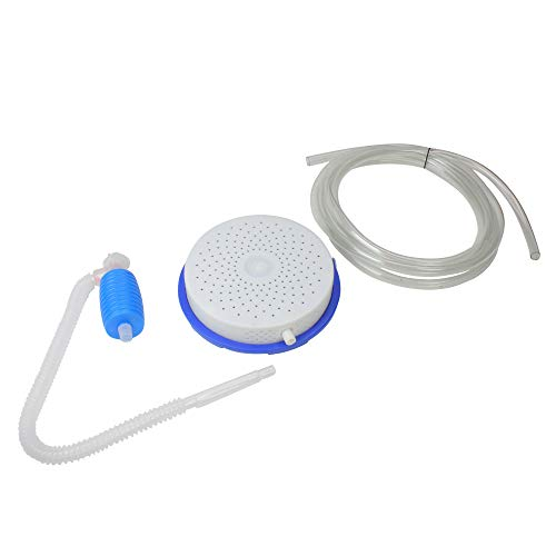 13' White and Blue Cover Saver Siphon Pump