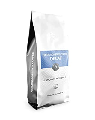 Roast Shop Coffee - Decaf Coffee Beans 1kg | Premium Arabica | Freshly Hand Roasted in Small Batches | Smooth and Delicious
