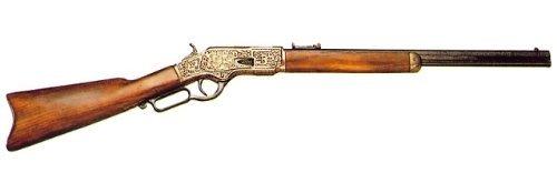 DENIX(デニックス) ウィンチェスターM73(彫刻)ゴールド アメリカ19世紀モデル 全長99cm [1253/L]