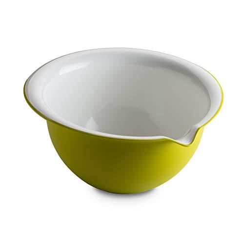 Omada Design Bol de mezcla 25x23.5x13 cm, 2 lt, blanco por dentro y coloreado por fuera, en MICROBAN antibacteriano, Lìnea de Sanaliving