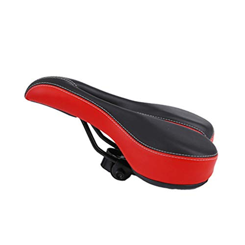 Lenfesh Bike Seat Saddle, Bike Cover Exercise Hollow Seat para Mujeres/Hombres Cómodo Racing Seat Cover para Bicicleta estática