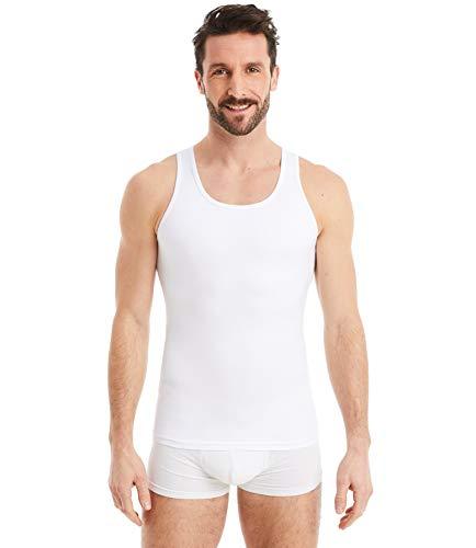 FINN figurformendes Kompressions-Unterhemd Herren - Shapewear Tank-Top mit Bauch-Weg Effekt Weiß Weiss XXL