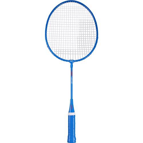 LIULU Children's Badminton Racket Iron Alloy Single Shot is Suitable for Indoor and Outdoor Sports Activities (Color : Blue, Size : 535mm)