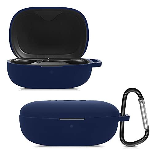 kwmobile Schutzhülle kompatibel mit Anker So&core Life P2 - Hülle Kopfhörer - Silikon Hülle Cover Dunkelblau