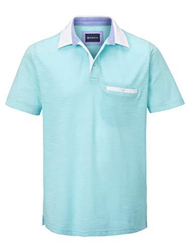BABISTA Herren Polo-Shirt – Kurzarm-Oberteil aus Baumwoll-Mix in zweifarbiger Optik, T-Shirt mit Hemd-Kragen, Polo-Hemd in Mintgrün, Gr. 48, Mintgrün, Gr. 66