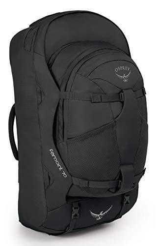 Osprey Farpoint 70 Reisetasche für Männer, mit abnehmbarem 13-Liter-Tagesrucksack - Volcanic Grey (S/M)