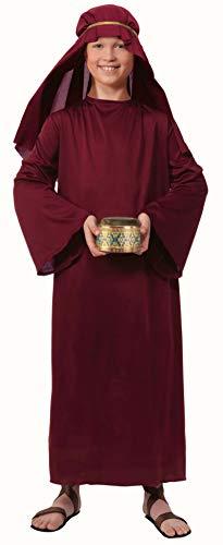 Forum Novelties Biblical Times Shepherd Burgundy Costume Robe, Child Medium