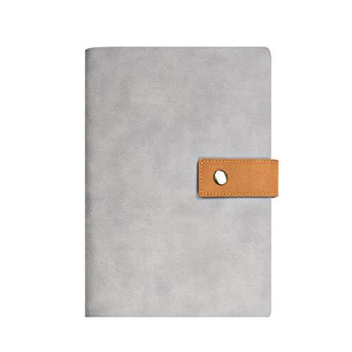 Cuaderno WDX- Espesar Simple Estudio Exquisito portátil Bloc de Notas de Office Diary grabación (Color : Gray, Size : 16.3 * 23cm)