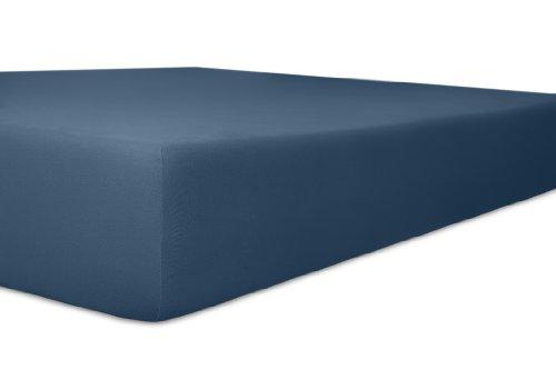 Kneer 2501432 Easy-Stretch Spannbetttuch Qualität 25, Größe 140/200-160/220 cm, Marine