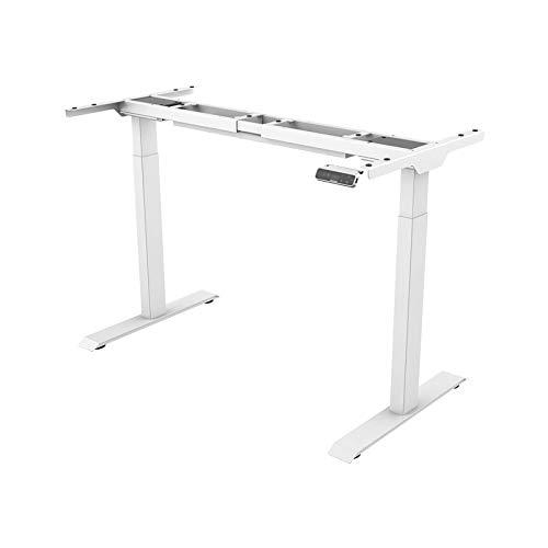 SANODESK Basic Line - elektrisch stufenlos höhenverstellbarer Schreibtisch mit Kollisionschutz, Memory-Steuerung und Softstart/Stop Funktion (Weiß)