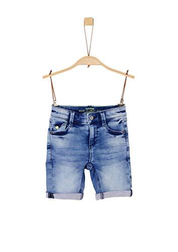 s.Oliver Junior Jungen 404.10.005.26.180.2020071 Jeans-Shorts, Blue, 122/REG